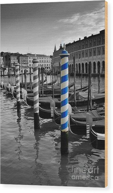 Venice Blue Wood Print