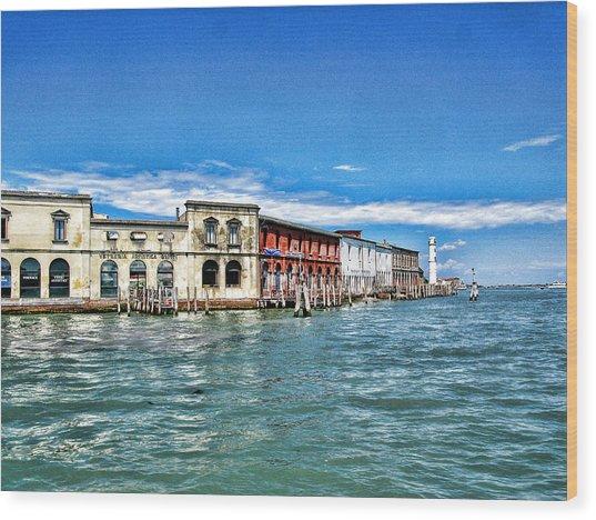 Venice By Sea Wood Print