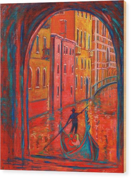 Venice Impression Viii Wood Print