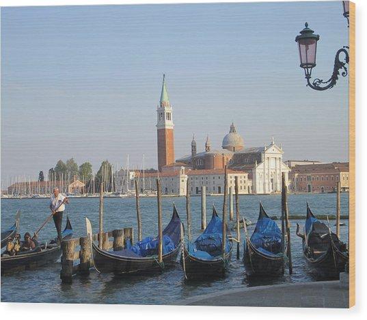 Venice In Springtime Wood Print