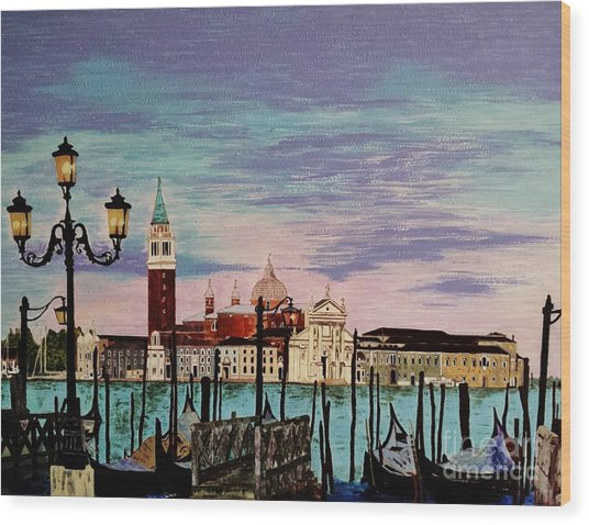 Venice  Italy By Jasna Gopic Wood Print