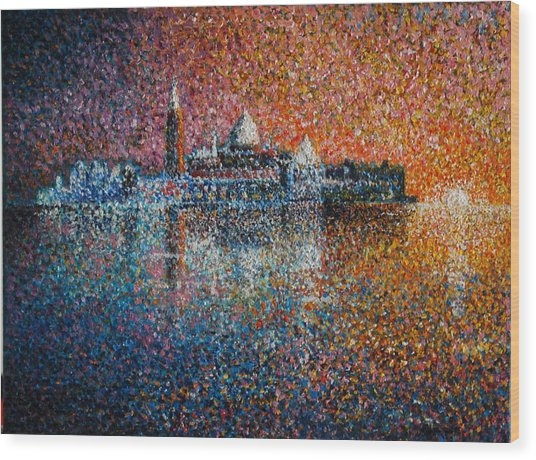 Venice Jewel Of The Adriatic Wood Print by Les Conroy