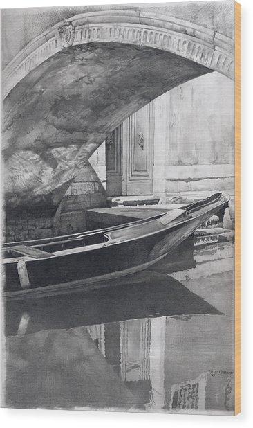 Venice Mmix- I  Wood Print