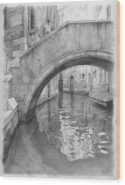 Venice Mmix- IIi Wood Print