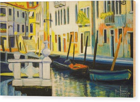 Venice Remembered Wood Print