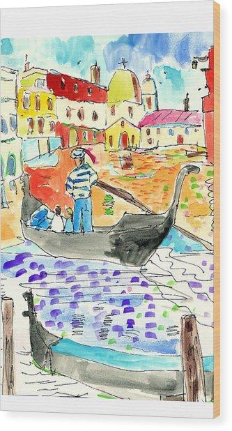Venice Wood Print by Samuel Zylstra