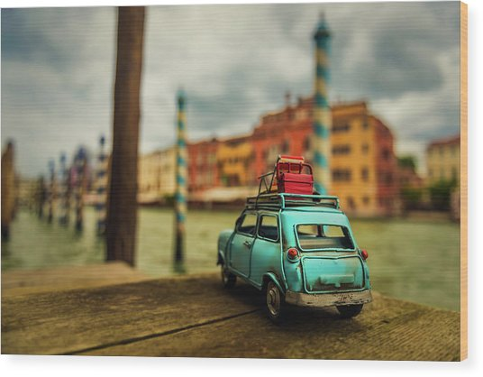 Venice Stopped Wood Print by Luis Francisco Partida