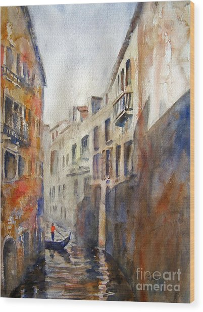 Venice Travelling Wood Print
