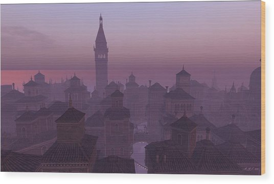 Venice Twilight Wood Print