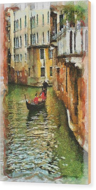 Venice View Wood Print by Cary Shapiro