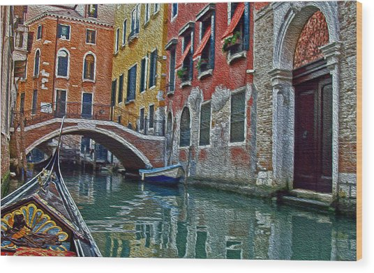 Venice Water Home Wood Print
