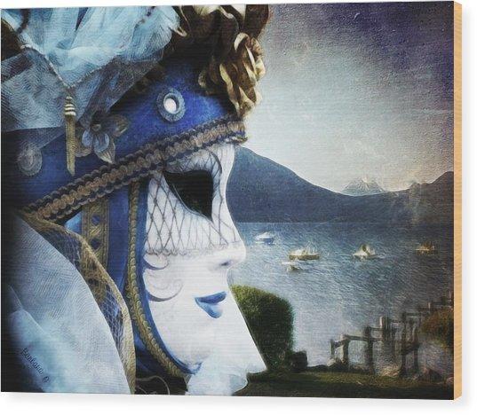 Venitian Carnival - La Dame Du Lac Wood Print