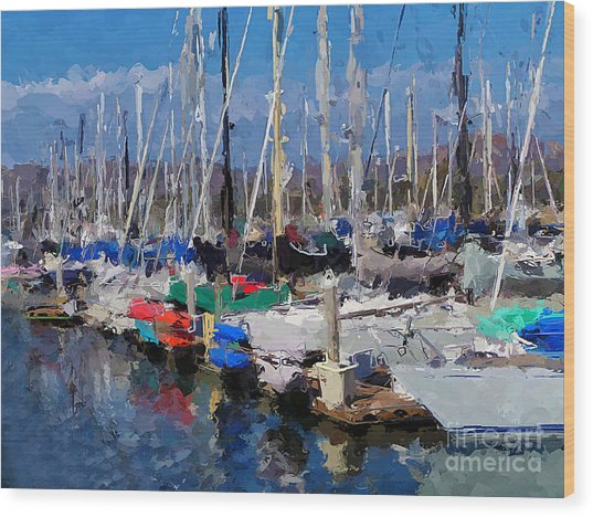 Ventura Harbor Village Wood Print