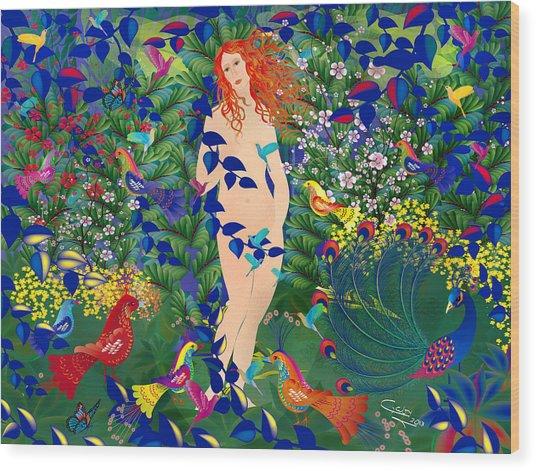 Venus At Exotic Garden Wood Print