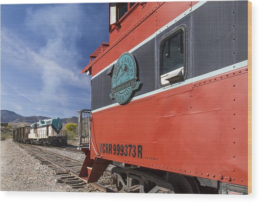 Verde Canyon Railway Caboose Wood Print