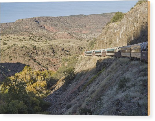 Verde Canyon Railway Landscape 2 Wood Print