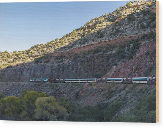 Verde Canyon Railway Landscape 1 Wood Print