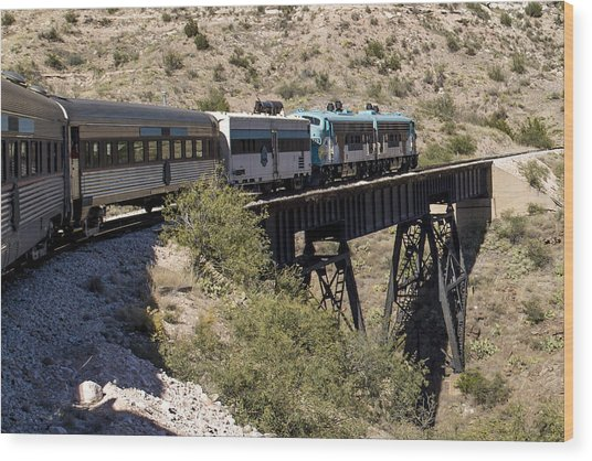 Verde Canyon Railway On Trestle Wood Print