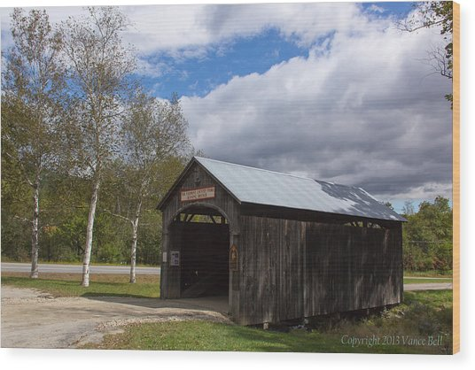 Vermont Country Store Covered Bridge Wood Print