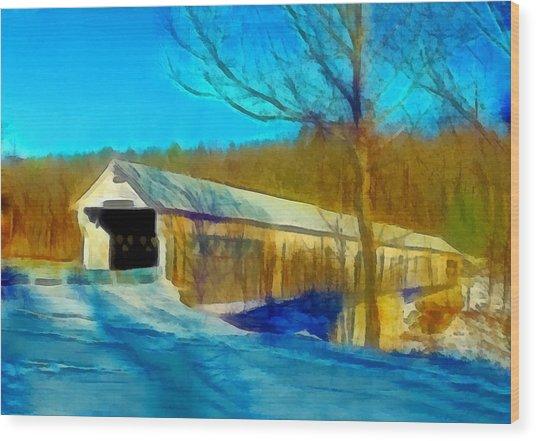 Vermont Covered Bridge Wood Print