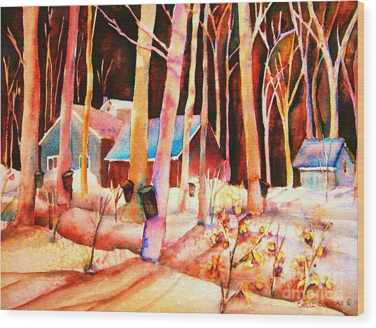 Vermont Maple Syrup Wood Print