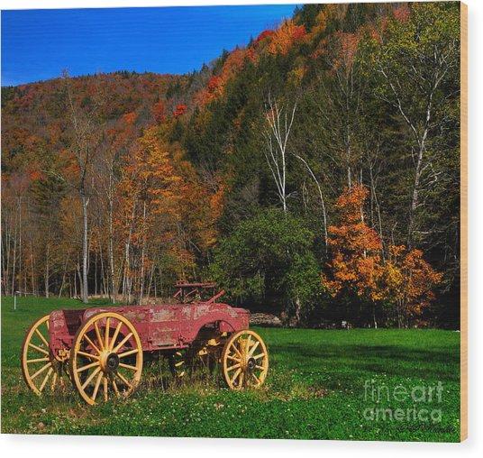 Vermont Wagon Wood Print