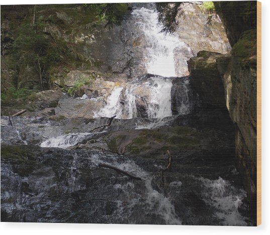 Vermont Waterfall Wood Print