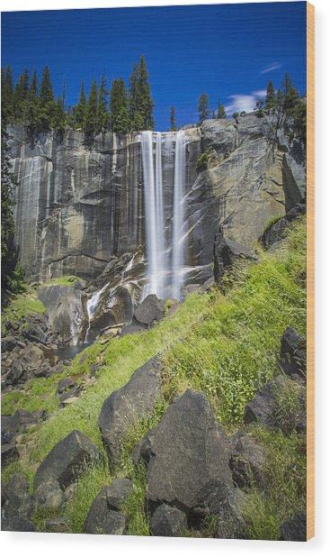 Vernal Falls In July At Yosemite Wood Print