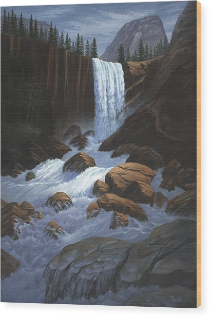Vernal Falls Yosemite  Wood Print