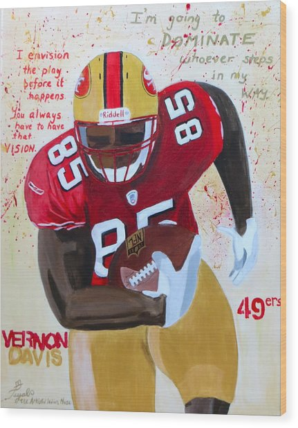 Vernon Davis 49ers Wood Print
