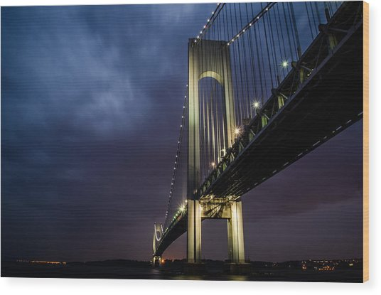 Verrazano-narrows Bridge Wood Print