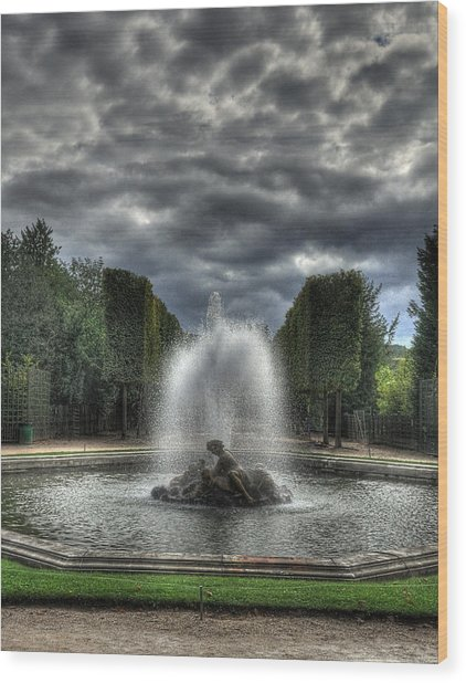 Versailles Fountain Wood Print