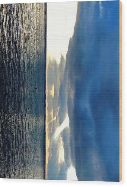 Vertical Wall 4 Wood Print