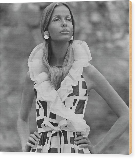 Veruschka Von Lehndorff Wearing A Fisher & Wood Print