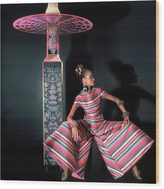 Veruschka Von Lehndorff Wearing Arnold Scaasi Wood Print