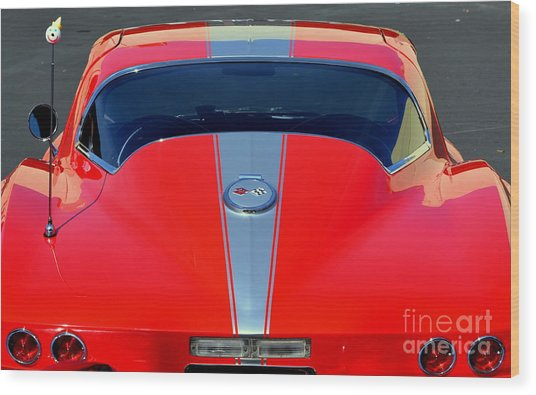 Very Cool Corvette Wood Print