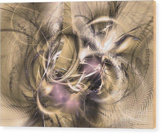 Vestigium Aeternum - Abstract Art  Wood Print