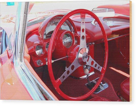 Vette Steering Wheel Wood Print