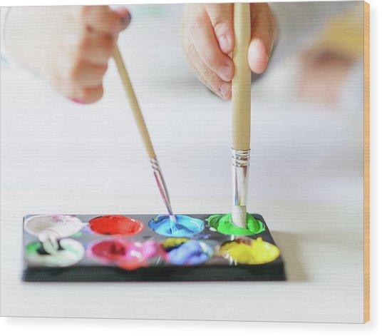 Vibrant Gouache Color Set In Double Use Wood Print by Tatiana Kolesnikova