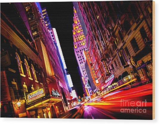 Vibrant New York City Wood Print