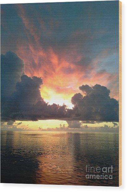Vibrant Skies 2 Wood Print