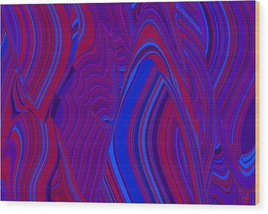 Vibration Wave Wood Print