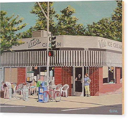 Vic's Ice Cream No. 3 Wood Print by Paul Guyer
