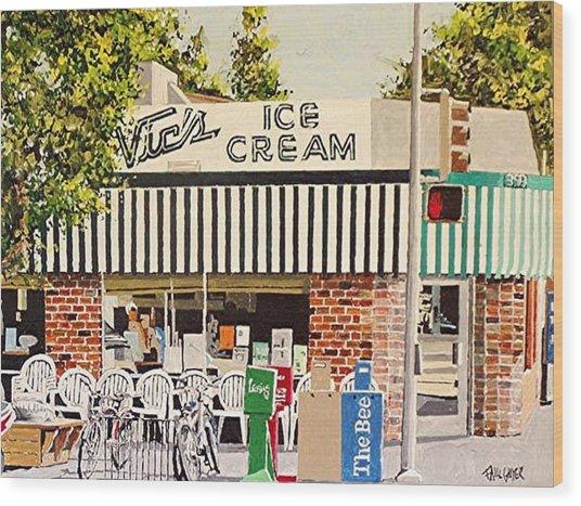 Vic's Ice Cream Wood Print