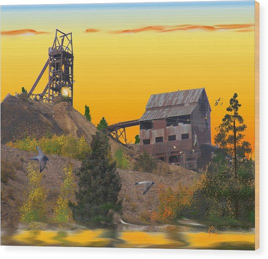 Victor Colorado Gold Mine Wood Print