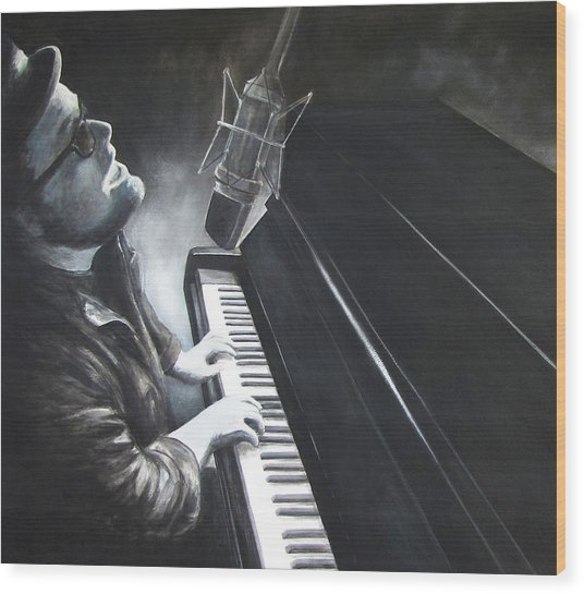 Victor Wainwright And The Wildroots Lit Up Wood Print by Patricia Ann Dees