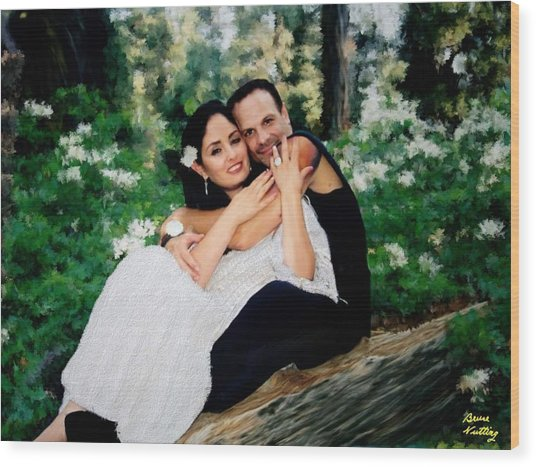 Victoria And Her Man Of God Wood Print
