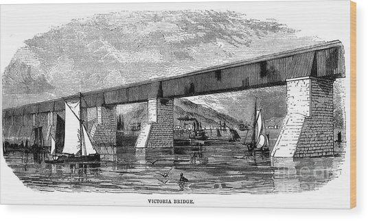 Victoria Bridge - Quebec - 1878 Wood Print