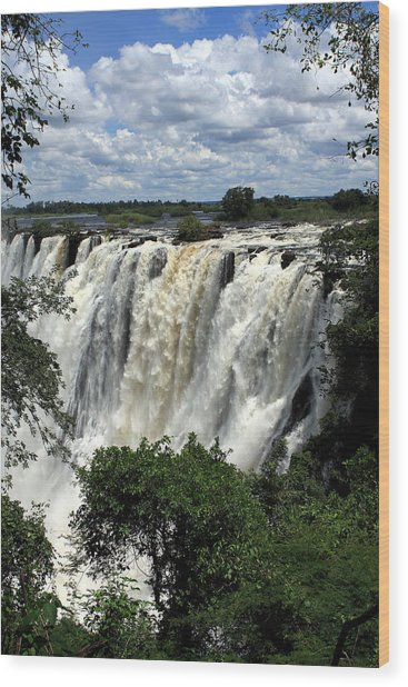 Victoria Falls On The Zambezi River Wood Print