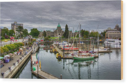 Victoria Inner Harbour Wood Print